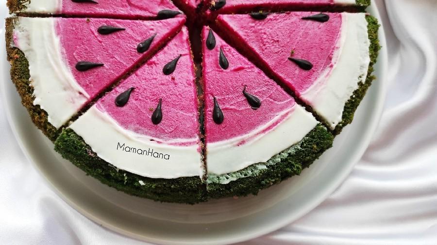 کیک هندوانه ای بدون فر