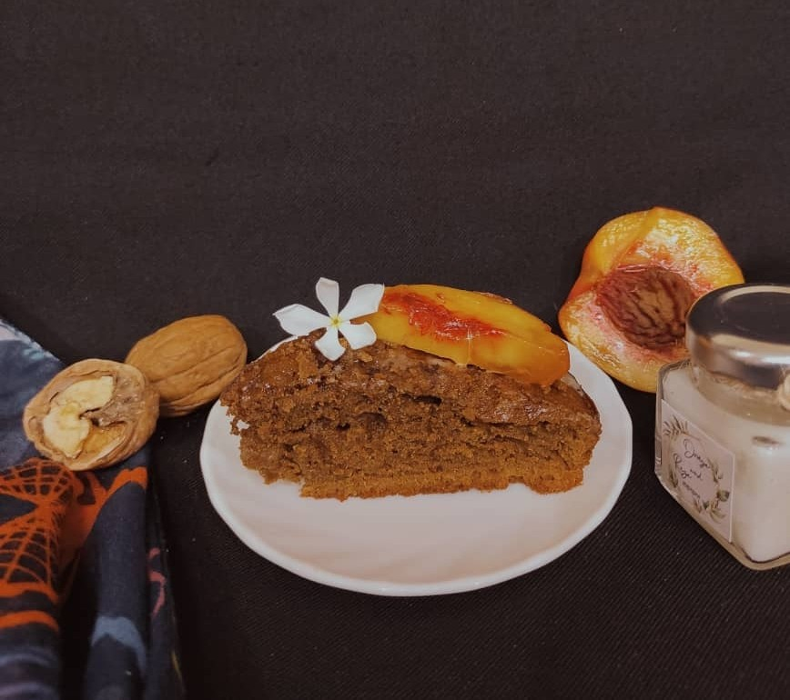 کیک موکا گردویی